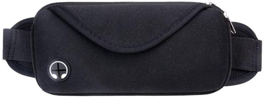 Xersex Waterproof Waist Bag, Ladies men-Pack Belt Bag Waist Pouch Travel Running Cycling Sports Bag (black)