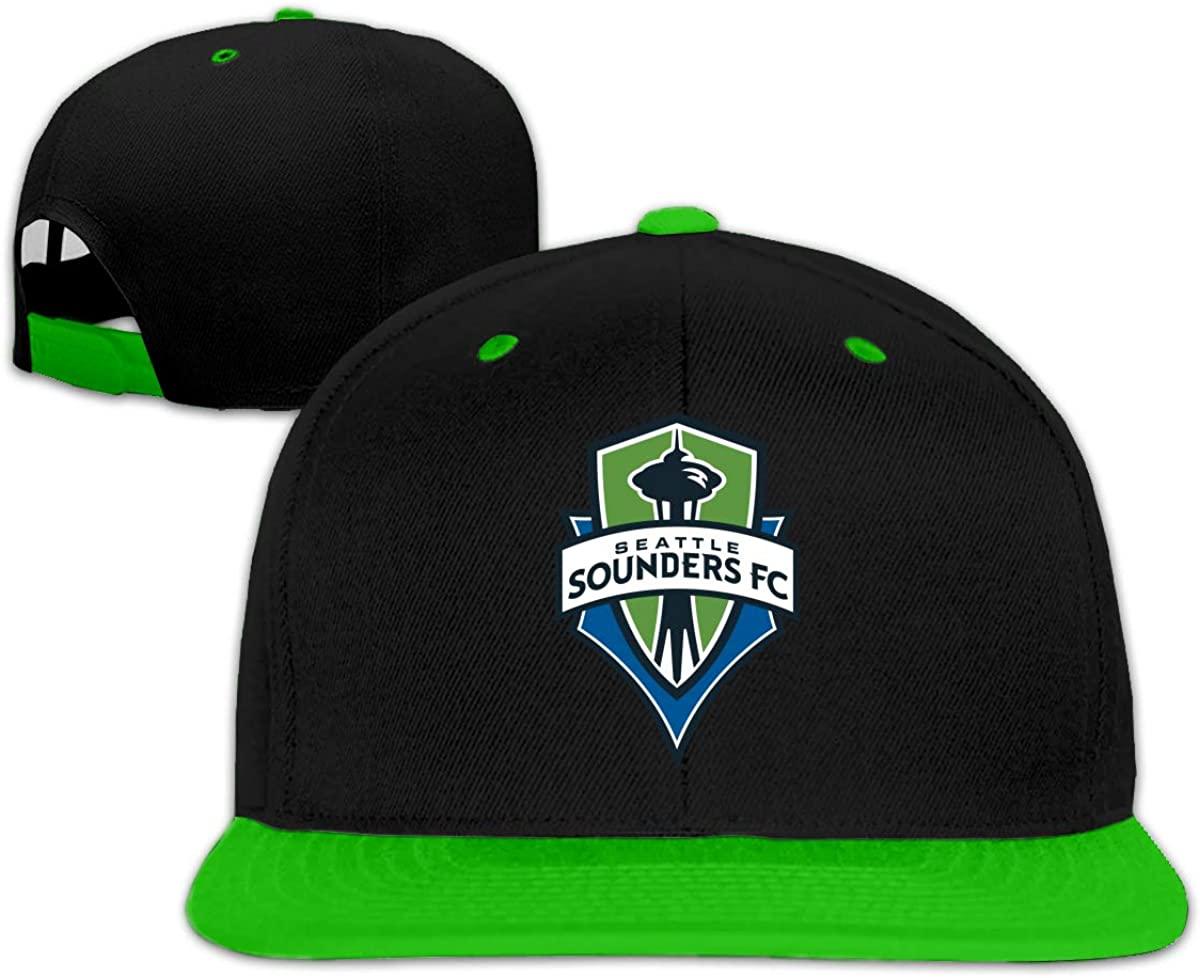 Wanjirong Unisex Seattle Sounders Cool Adjustable Flat Brim Trucker Hats Baseball Cap Mens Womens