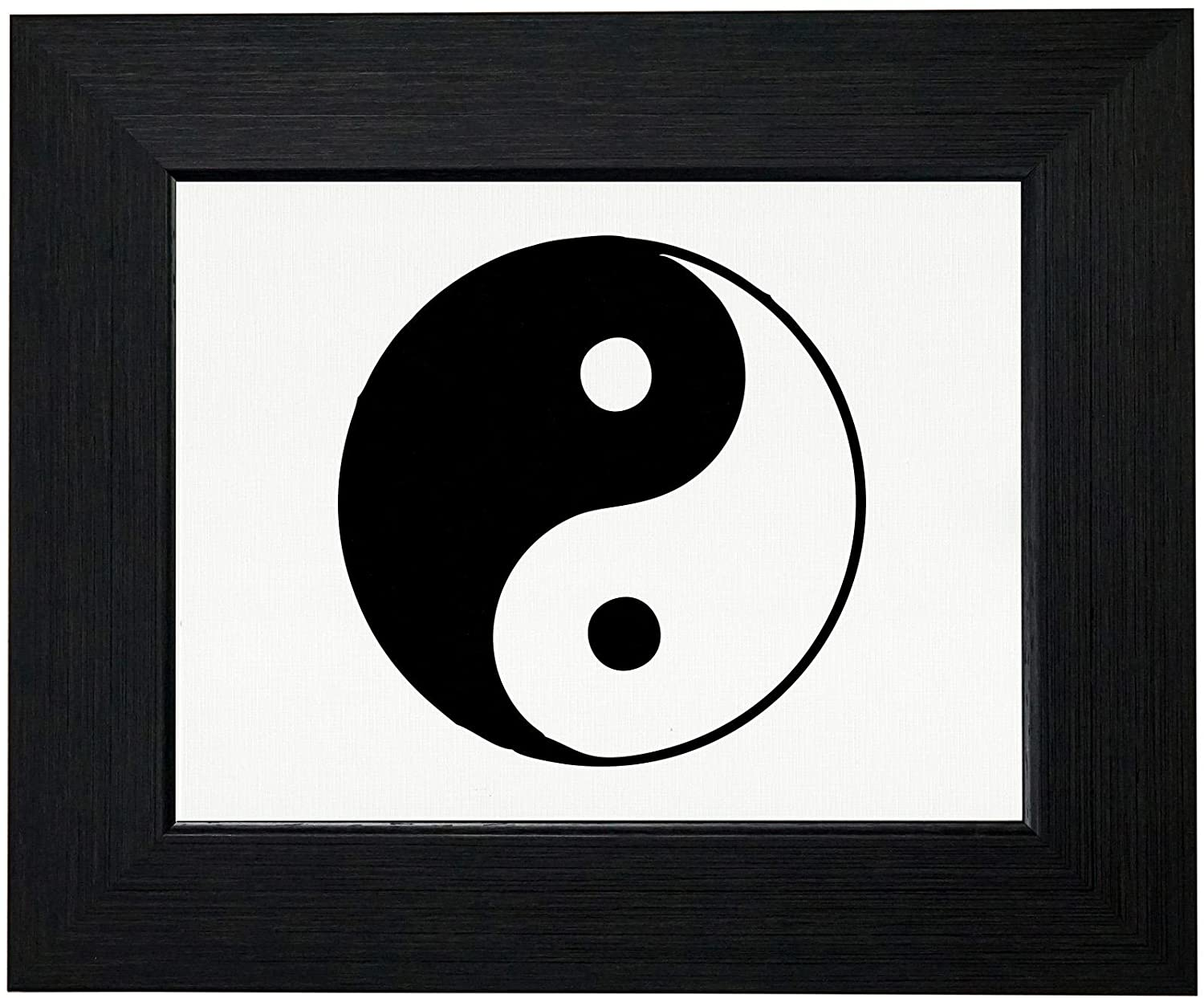 Royal Prints Yin & Yang - Chinese Philosophy Symbol for Natural Harmony Framed Print Poster Wall or Desk Mount Options