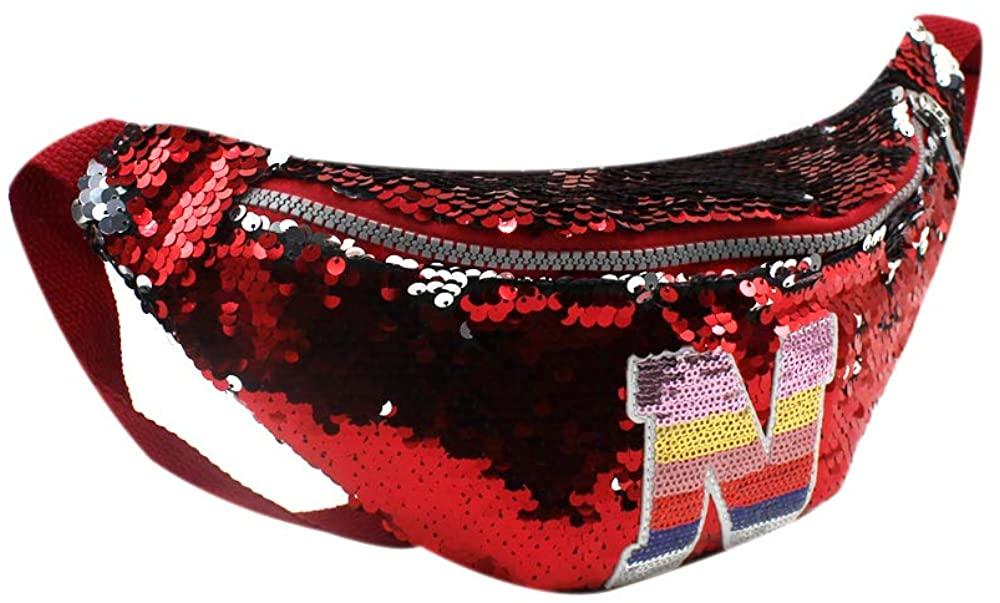 RARITYUS Sparkly Sequin Fanny Packs Glitter Waist Bag with Adjustable Strap for Women Girls Unisex