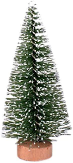 Mini Christmas Tree,Christmas Tree Mini Pine Tree With Wood Base DIY Home Table Top Decor