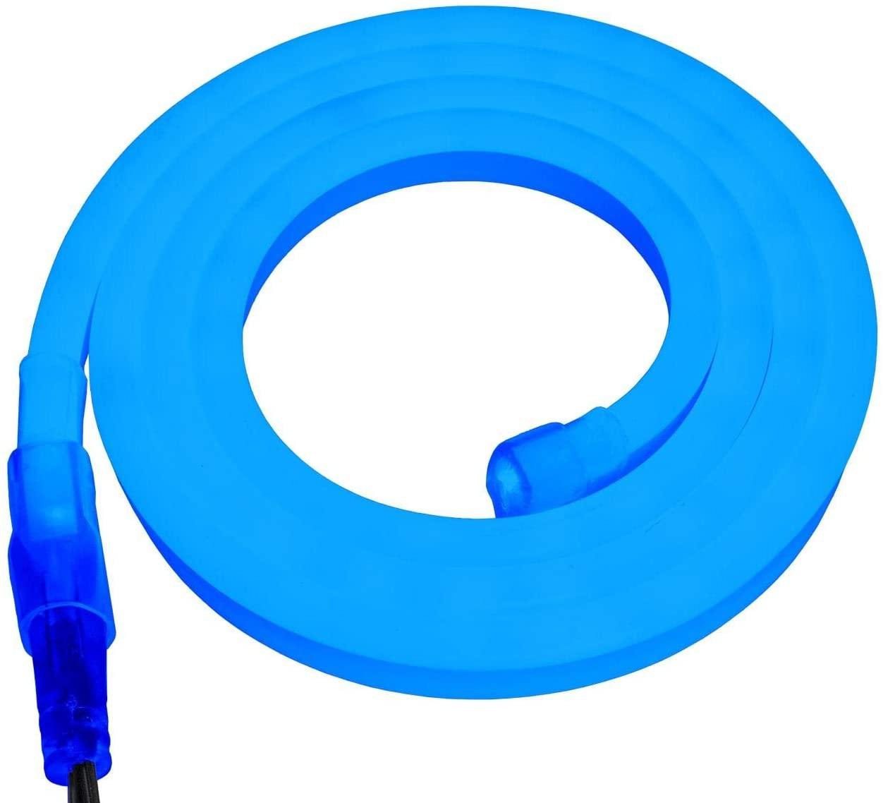 Brilliant Brand Lighting Blue SMD LED Neon Strip Light - 120 Volt - Custom Cut - 14.76 Feet