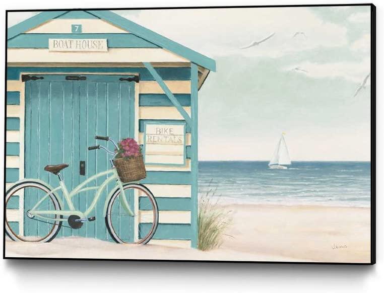 Giant Art - Framed Wall Art Print | Beach Cruiser I | Ready to Hang Artwork for Home or Office Decor, 12 x 10