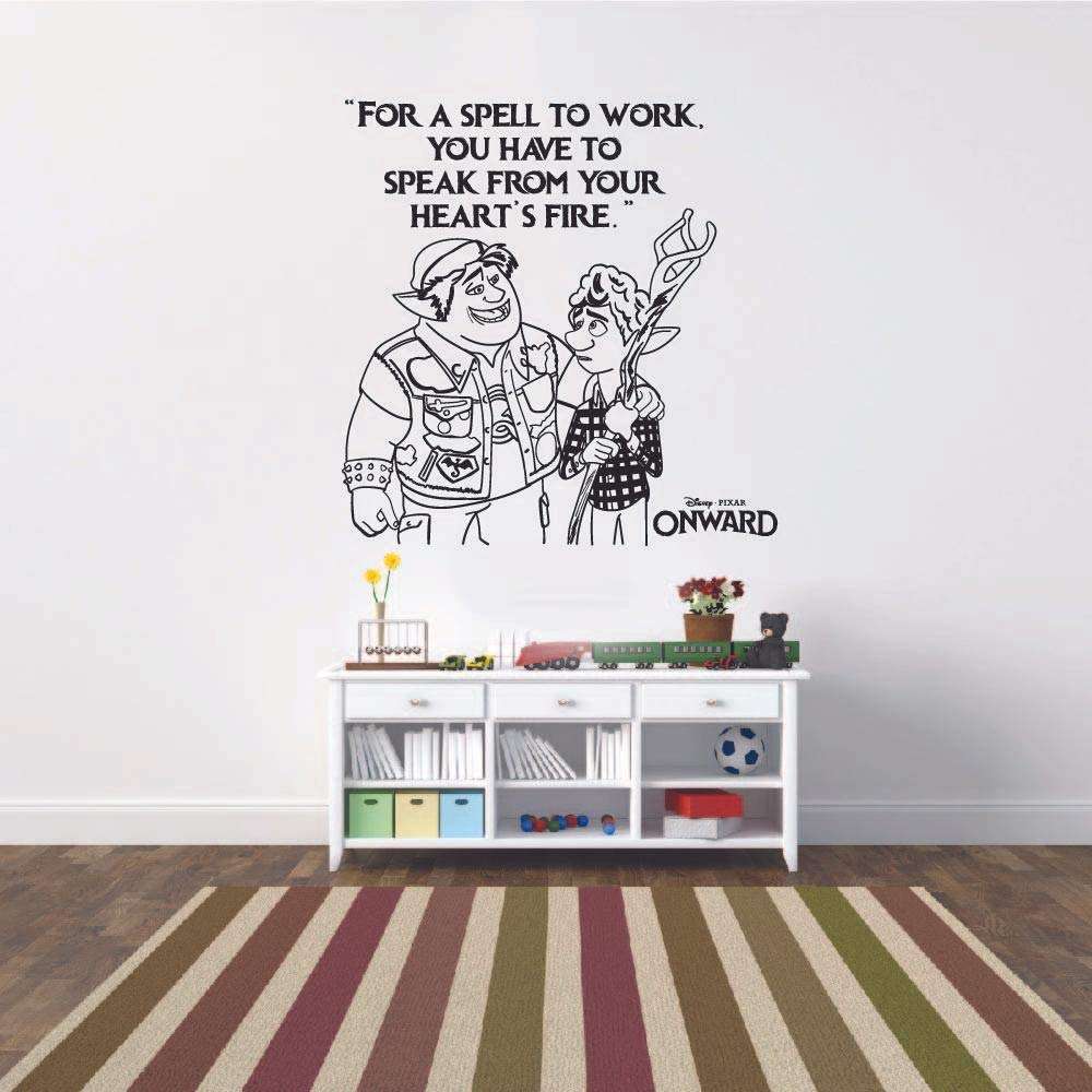 From Your Heart Ian Barley Quote Onward Movie Disney Cartoon Wall Sticker Art Decal for Girls Boys Room Bedroom Nursery Kindergarten Fun Home Decor Stickers Wall Art Vinyl Decoration Size (20x18 inch)