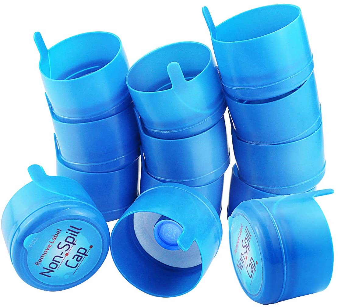 Neworkg 30 Pack Water Bottle Caps with Plastic film, 3 & 5 Gallon Water Jug Cap Replacement