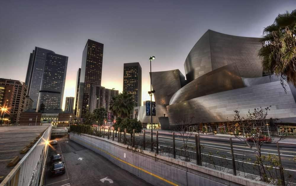 KaoHun Walt Disney Concert Hall Los Angeles California USA - Landscape Picture Art Canvas Print Poster,Home Wall Decor 20x13 inches