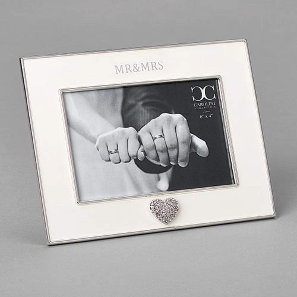 Roman Mr & Mrs Frame with Heart 4x6 Photo, 7-inch Height