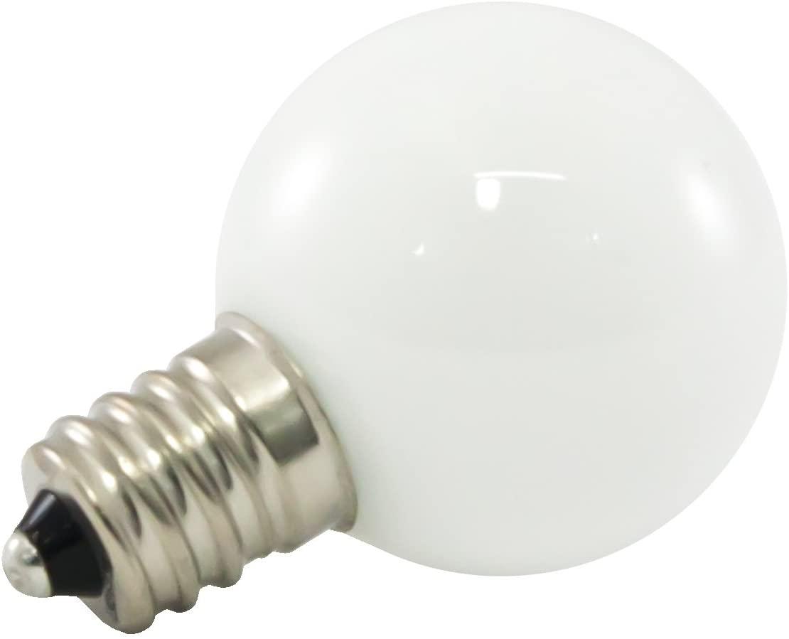 American Lighting Dimmable LED G30 Opaque Globe Light Bulbs, E12 Candelabra Base, 2700K Warm White, 25-Pack