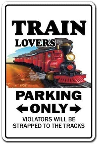 Metal Sign Great Tin Sign Metal Poster Train Lovers Parking Sign Model Railroad Rr Hobby Outdoor Yard Safety Sign 12