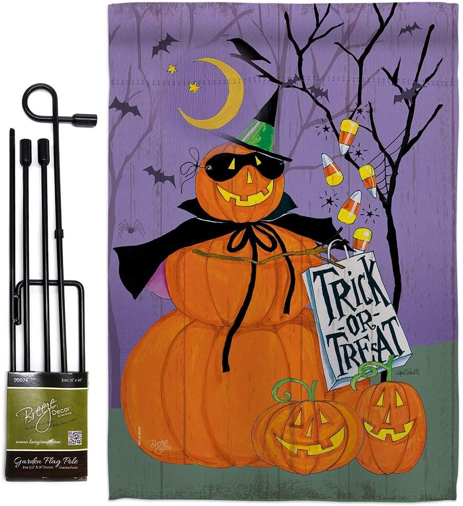 Breeze Decor GS112084-BO Happy Pumpkin Trio Fall Halloween Impressions Decorative Vertical 13