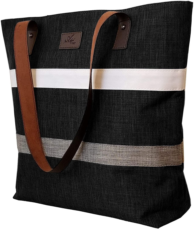 Aleah Wear Shoulder Tote Bag Purse Top Handle Satchel Handbag For Women Work School Travel Business Shopping Casual Upgraded