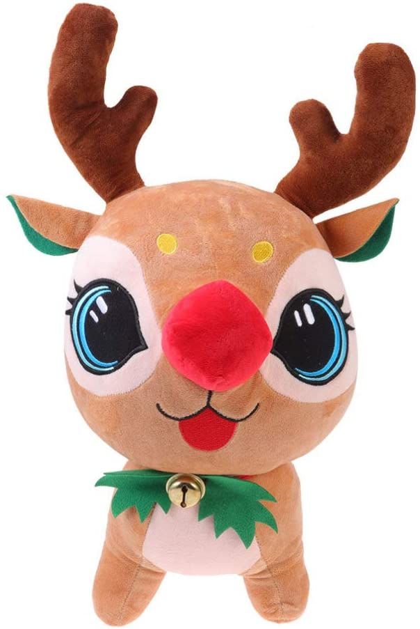 Amosfun Christmas Plush Toy Stuffed Animal Doll Pillow Holiday Festive Christmas Eve Party Gift for Children Adults