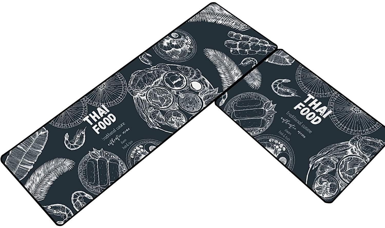Dingtuo 2 Pieces Kitchen Mat Set Non Slip Bath Rug Doormat Floor Carpet Area Rug #2