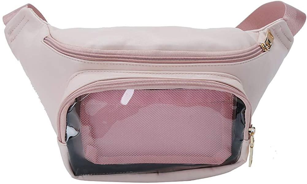 Fascinating Clear Candy Leather Waist bag Kawaii Purse Transparent Star Lolita Ita Bag