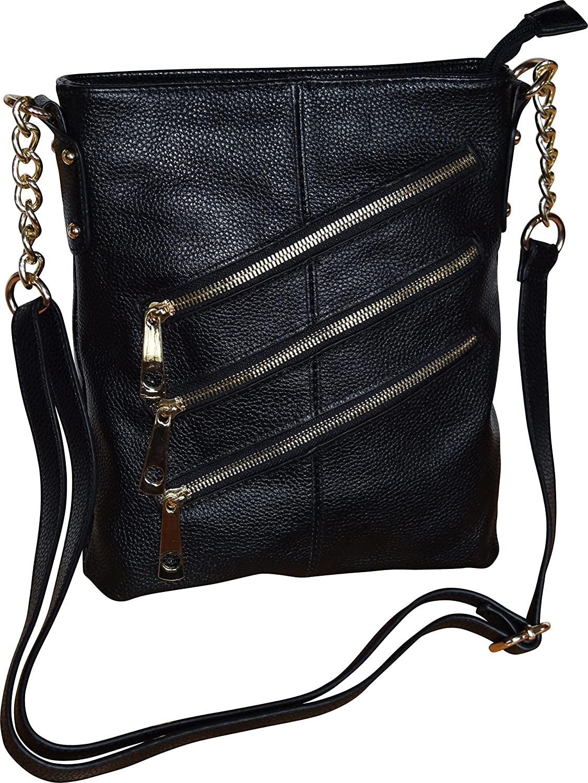 Womens Genuine Leather Large Crossbody Bag-Messenger Bag