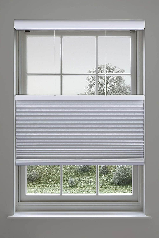 Linen Avenue Cellular Cordless 35 W x 84 H White Top Down Bottom Up (TDBU) Light Filtering Shade