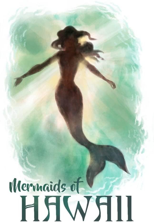 Mermaids of Hawaii - Mermaid Underwater (9x12 Art Print, Wall Decor Travel Poster)