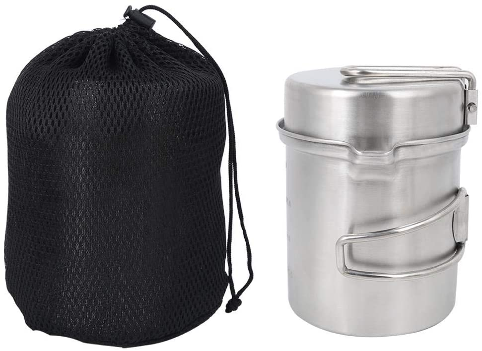 Bracon Camping Pot - Outdoor Portable Stainless Steel Cookware Set Pot Cooker for Camping Hiking