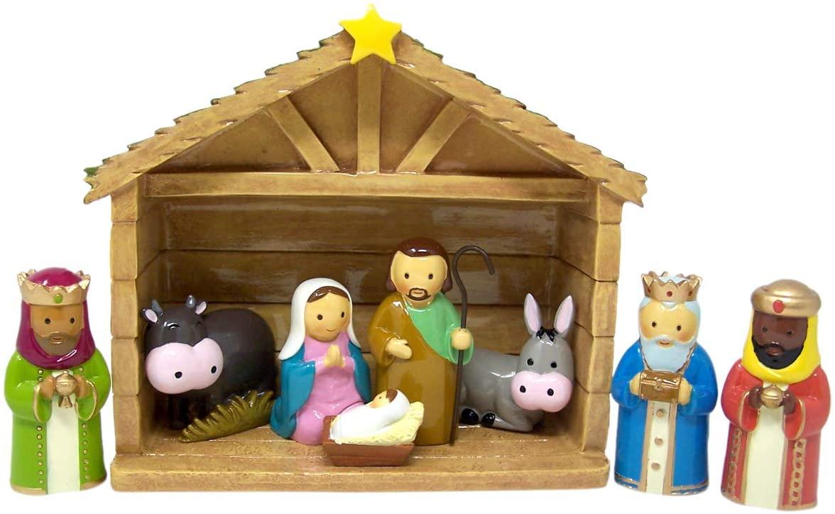 Needzo Little Drops of Water Christmas Nativity Scene Figurines Set,7 5/8 Inch