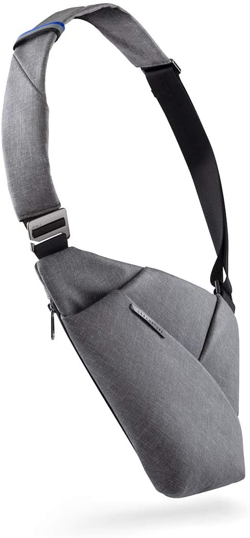 NIID D1 Chest Pack Crossbody Bag Sling bag Slim Backpack Multipurpose Casual Daypack(Light Gray, Right Hand)