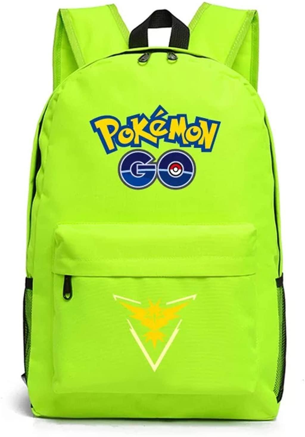 Ku-lee Kids Cartoon Pokemon Backpack-Pokemon Go School Bag Book Bag-Rucksack Backpack for Boys Girls