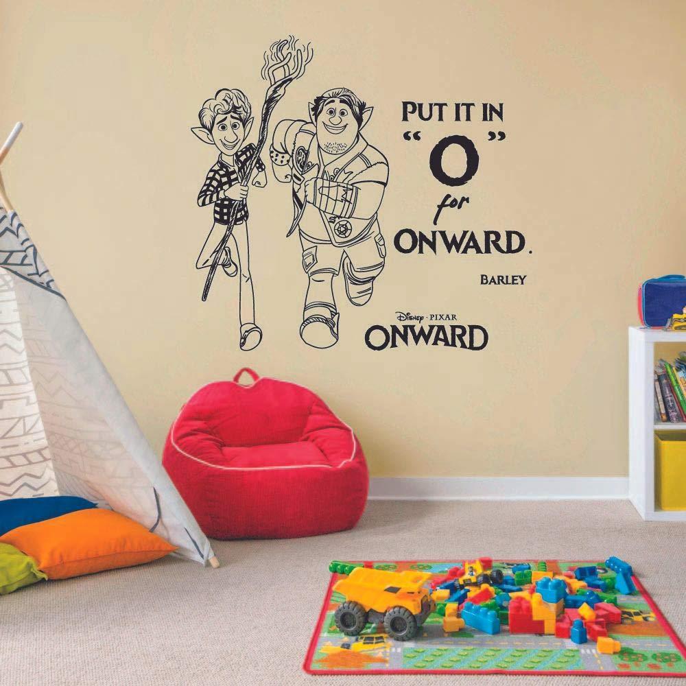 Put It in O Barley Ian Quote Onward Movie Disney Cartoon Wall Sticker Art Decal for Girls Boys Room Bedroom Nursery Kindergarten Fun Home Decor Stickers Wall Art Vinyl Decoration Size (40x40 inch)