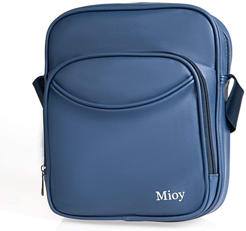 Mioy Casual Leather Handbag for Men Mini Crossbody Bag Light Shoulder Bag Messenger Bag (BLACK)