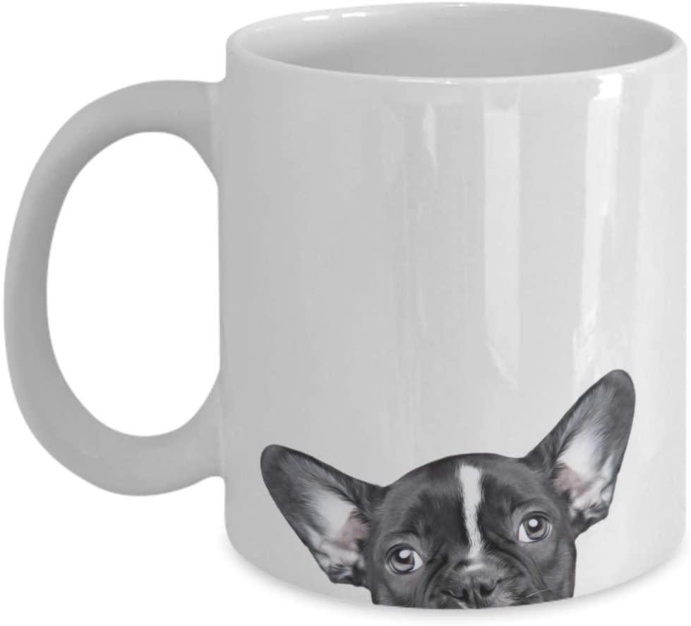 Black French Bulldog Puppy Mug - Coffee Tea Cup Christmas Birthday Present Gifts 11oz