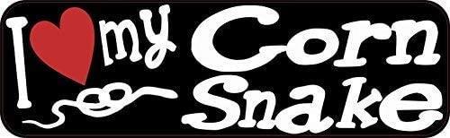 Unoopler 6 x 16 inch I Love My Corn Snake Tin Sign Car Door Metal Sign Truck Pet Tin Signs