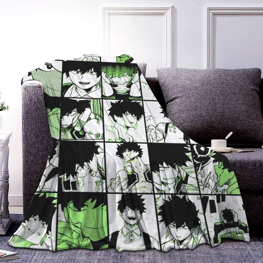 Serabins My Hero Academia - Yo Shindo Flannel Fleece Soft Throw Blanket for Living Room Bedroom Warm Blanket