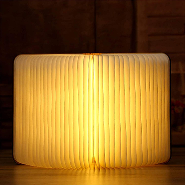 Personalized Bluetooth Lamp Custom Photo Light Engraved Folding Book Lamp Novelty LED Night Reading Light Christmas for Women(White)