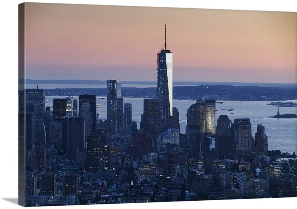 One World Trade Center, New York City, New York Canvas Wall Art Print, 24