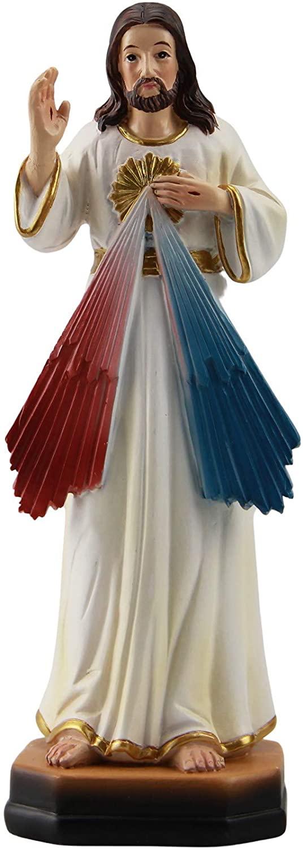 Woodington's Divine Mercy Jesus Christ 5 Inch Colored Resin Small Statue