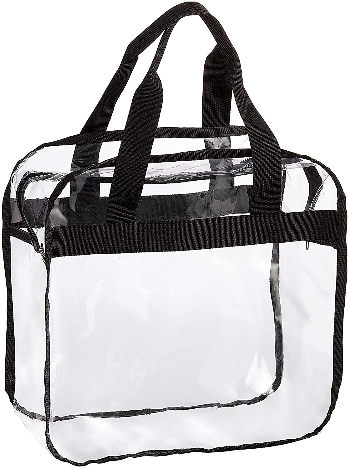 Darice Tote Bag with Zip-Top: Clear, PVC, 12 x 12 Inches