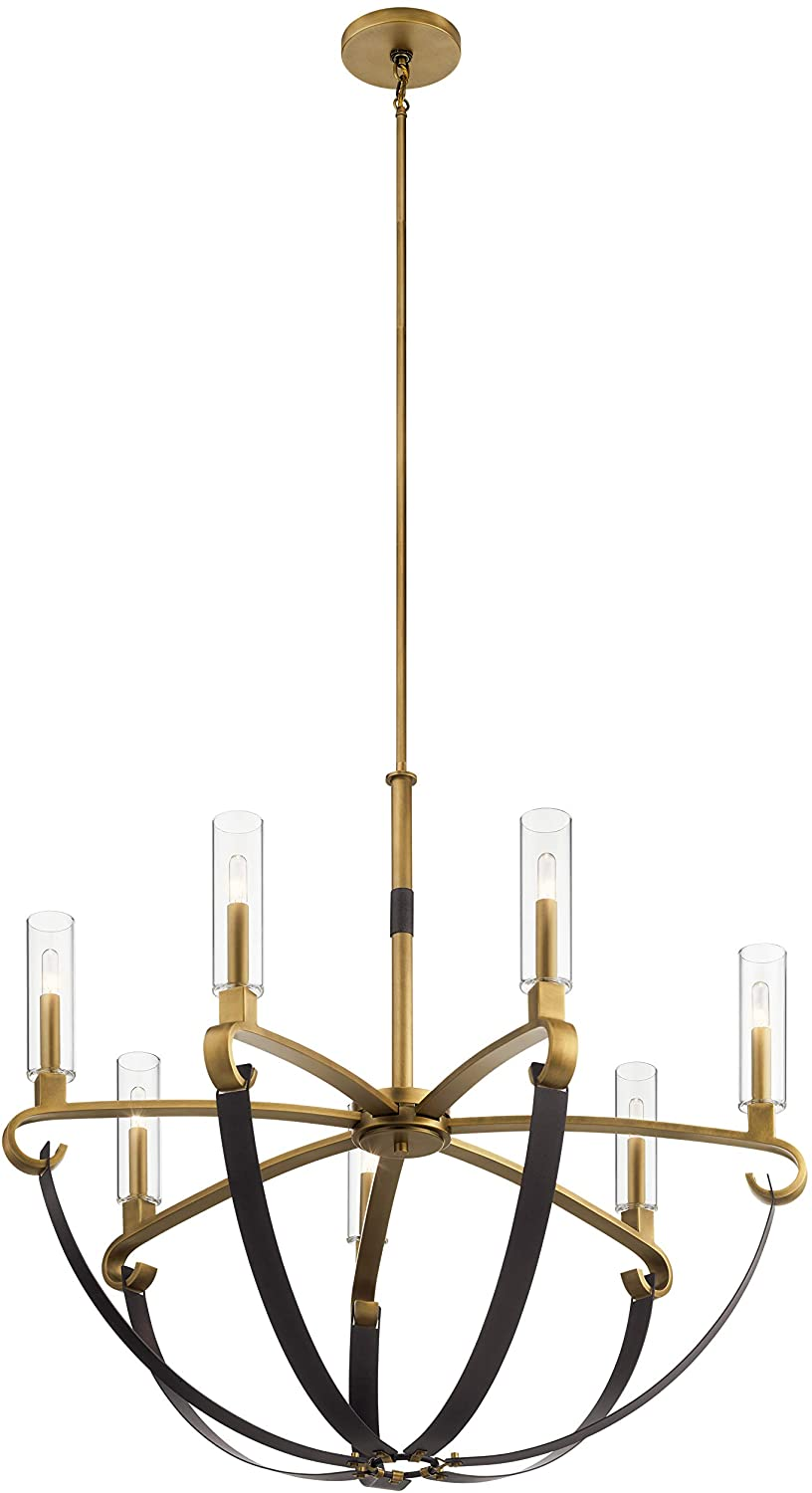 Kichler 52016NBR Artem Chandelier, 7-Light 420 Total Watts, Natural Brass