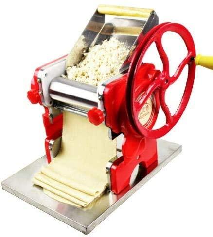 CNCEST Multi-functional Manual Noodle Machine, Stainless Steel Pasta Dumpling Skin Maker Machine Press Noodle Machine (US Stock)