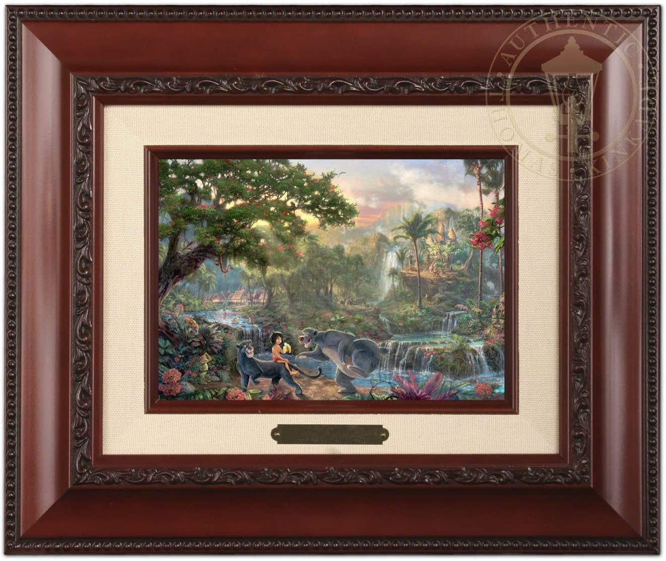 Thomas Kinkade Disney The Jungle Book Brushwork (Brandy Frame)
