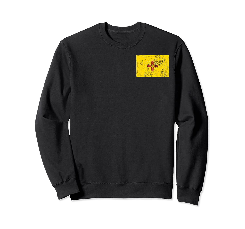 New Mexico Zia Symbol Retro Yellow Zia Sun New Mexico Flag Sweatshirt