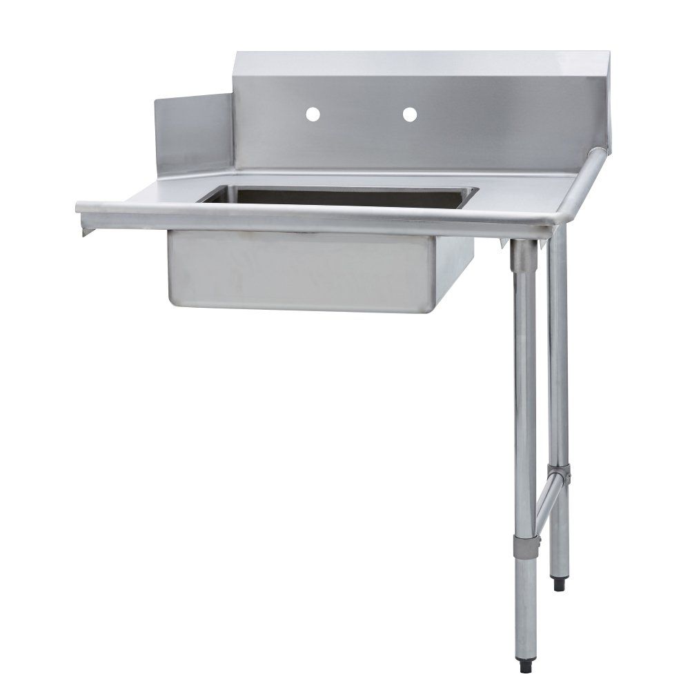 Fenix Sol Stainless Steel Commercial Kitchen Soiled Dish Table, Right Side, 30