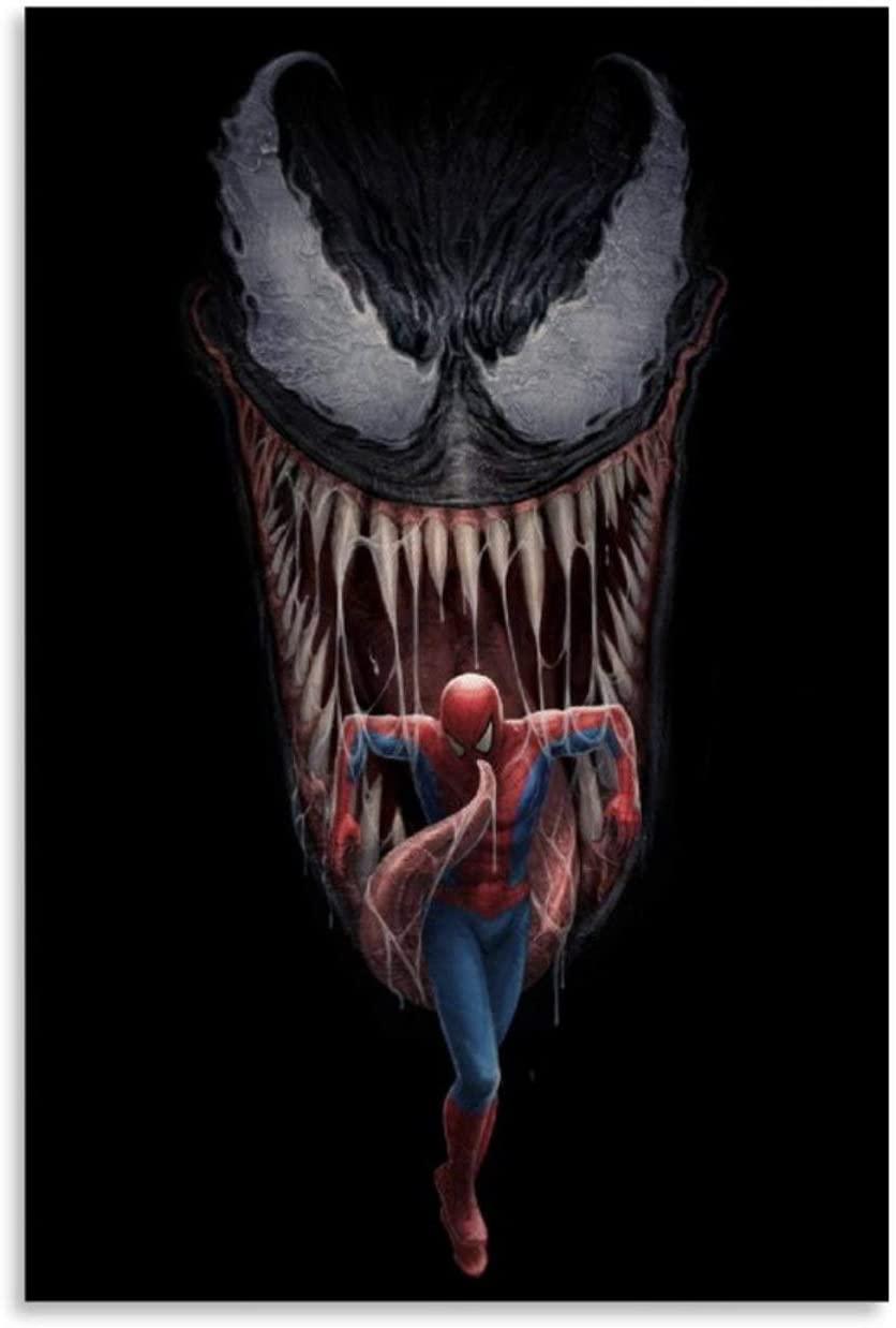 ElegantCanvasWallArt Venom Superhero Character Sci-Fi Movie Concept CG Vertical Version Wall Decor Poster 08x12inch(20x30cm)