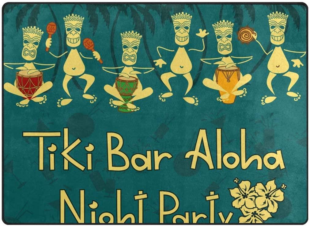 senya Doormat Outdoor Mats Tiki Bar Party Entrance Waterproof Rugs Non Slip Front Door Carpet for House Hotel Patio Garage