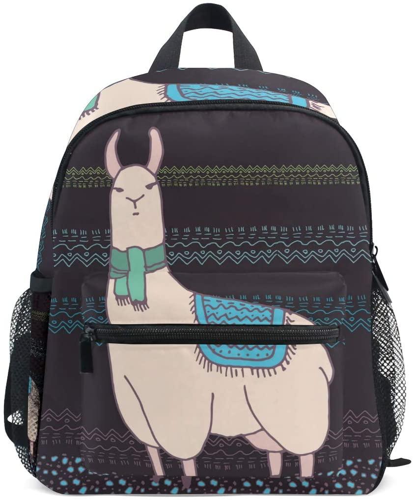 Llama Alpaca Pattern Toddler Backpack Kindergarten Preschool Kids Bag