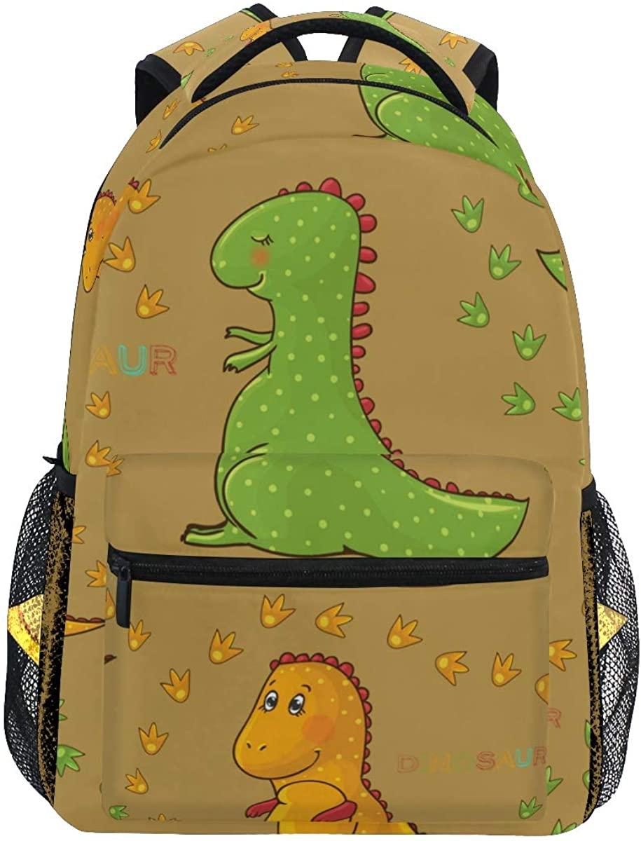 Cute Dinosaur Chick Paw Backpack School Bookbag Rucksack Shoulder Book Bag for Boys Girls Women Travel Daypacks