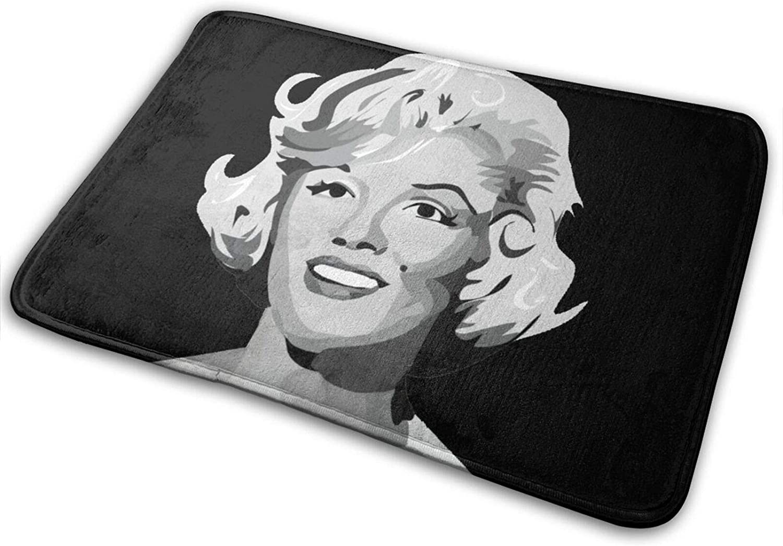 Marilyn Monroe Easy-to-Clean Bath Mat, Foam Bath Mat, Non-Slip Super Absorbent Carpet, 40x60 cm.