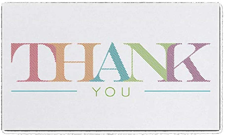 525pk Colorful Thank You-Thank You Cards