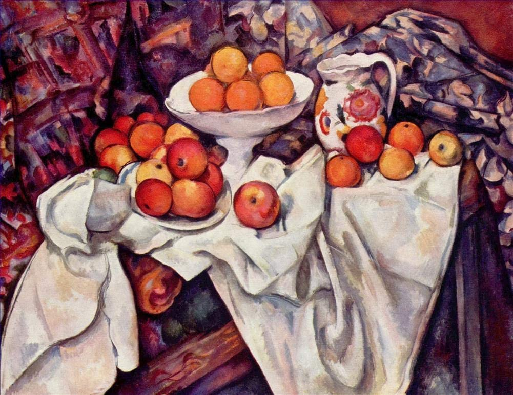 30 Famous Cezanne Paintings - $50-$1000 Hand Painted by Academic Artists - Apples and Oranges Paul Cezanne Impressionism Still Life - Art Oil Painting on Canvas -Size01