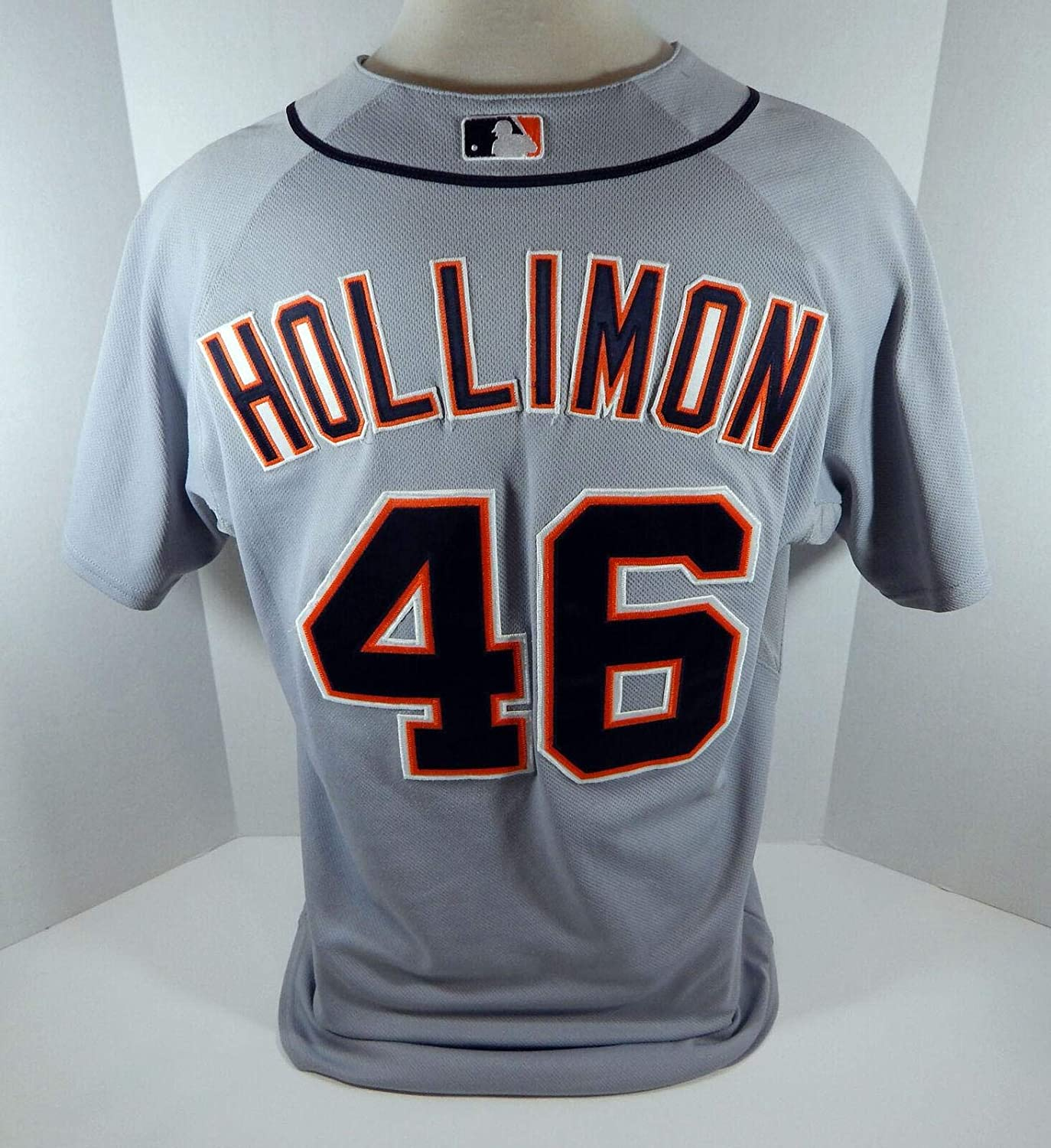 2008 Tigers Mike Holliman #46 Game Used Grey Jersey - Game Used MLB Jerseys