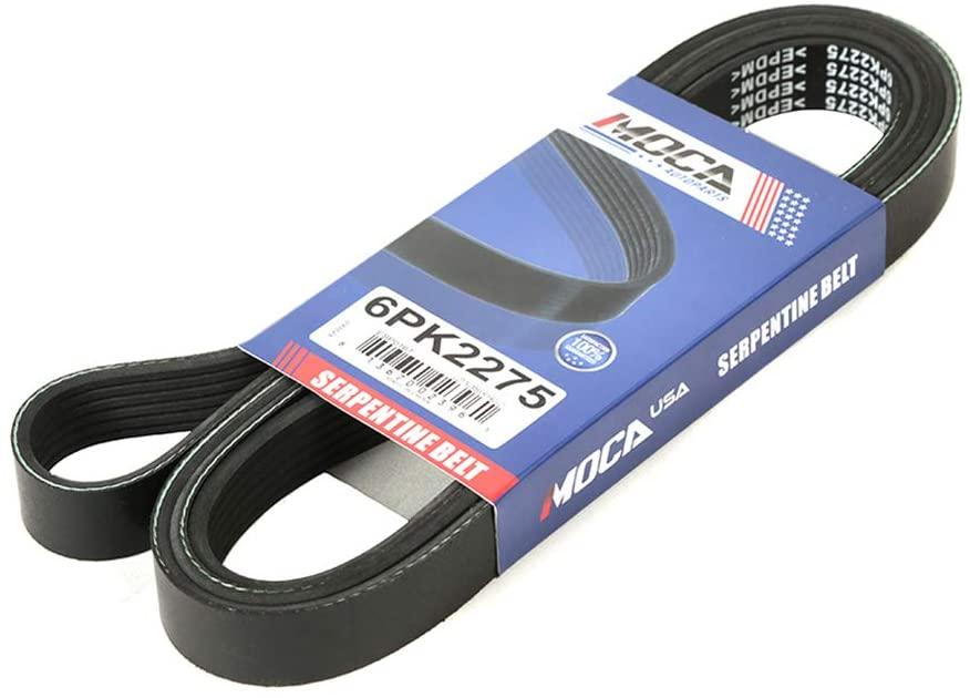 MOCA 6PK2275 EPDM Serpentine Belt for 03-05 Dodge Sprinter 2500/3500 2.7L & 05-07 Ford Escape & Mercury Mariner 2.3L & 98-02 Honda Passport 3.2L