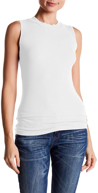 Three Dots Women's Krystine-Sleeveless Rib Tank Top