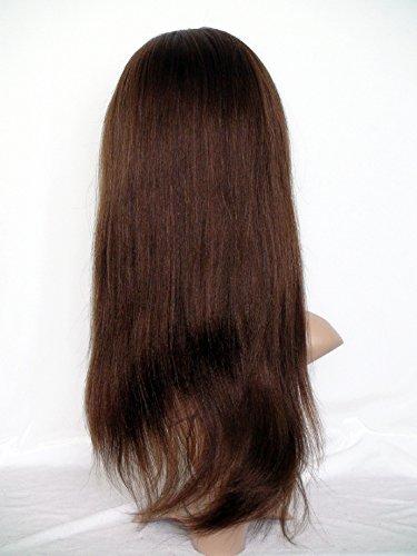 Good Quanlity 22 Natural Hair Wigs Full Lace Human Hair Wigs Peruvian Virgin Remy Human Hair italian yaki Color #4